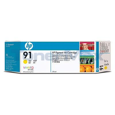 HP NO 91 INK YELLOW 775-ML